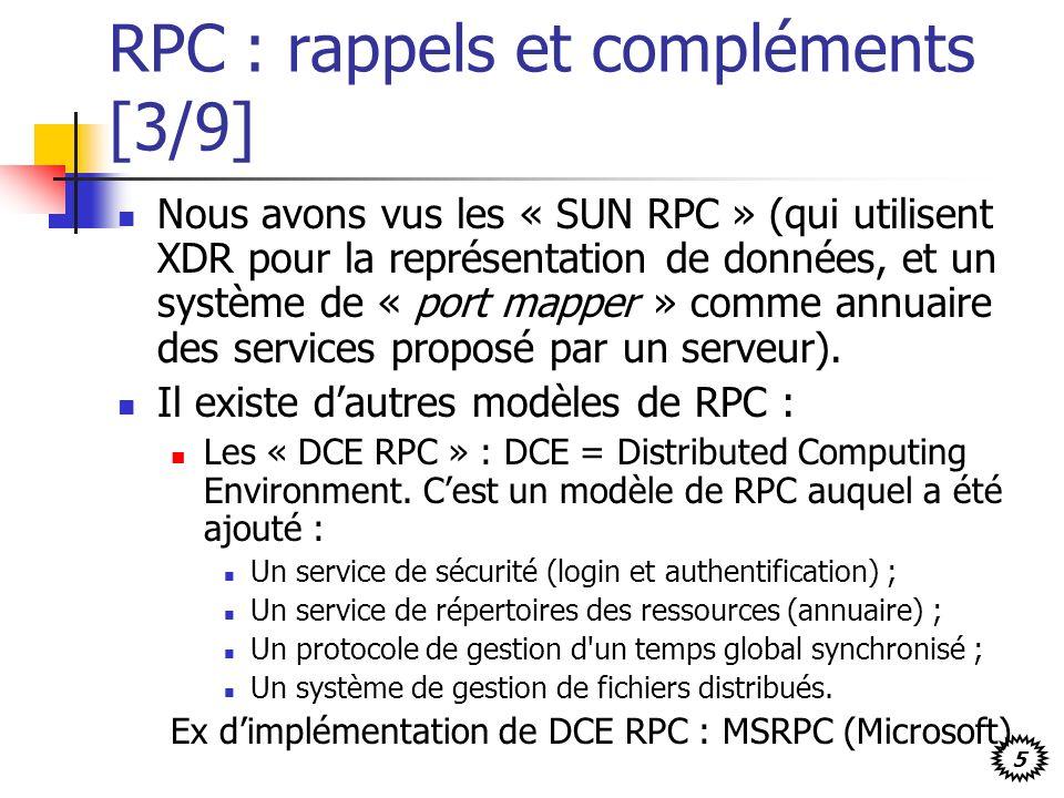 RPC : rappels et compléments [3/9]